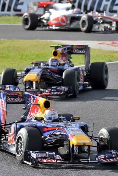Despues de la salida de Kubica, Vettel y Webber dominaron la carrera.