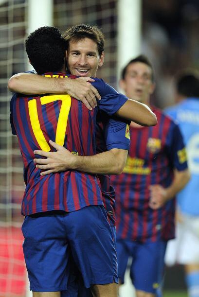 El argentino puso el cuarto tanto en favor del Barcelona.