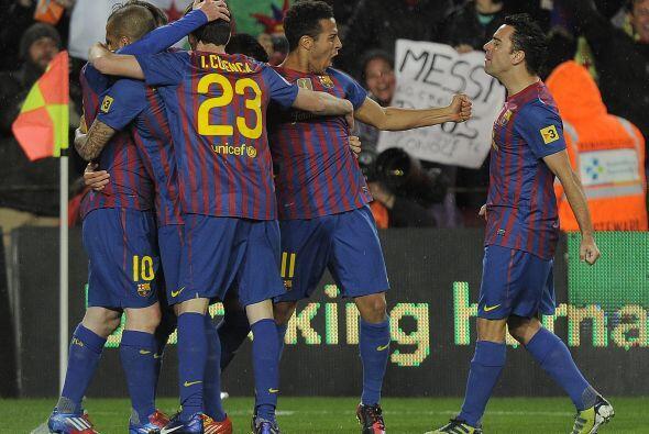 El Barcelona respiraba, ganaba por 2 goles sin sobresaltos.