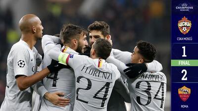 ¡La Loba aúlla en Rusia!: Roma venció al CSKA de Moscú y es líder del Grupo G