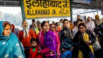 Cerca de Allahabad, donde muerioron al menos 36 personas, tiene lugar un...