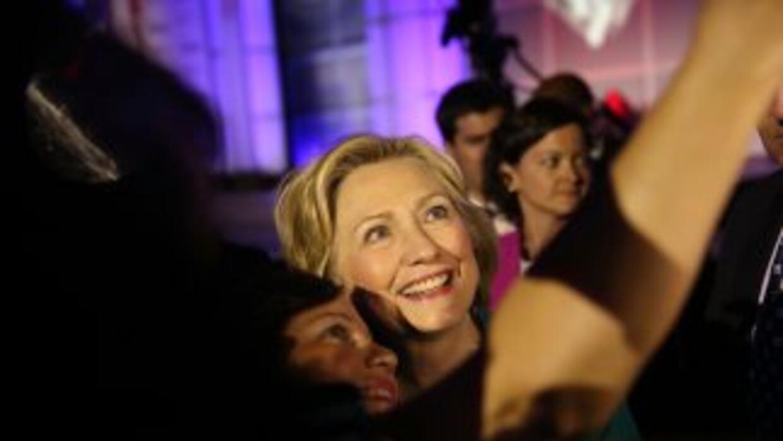 Hillary Clinton durante un evento de campaña en Fort Lauderdale