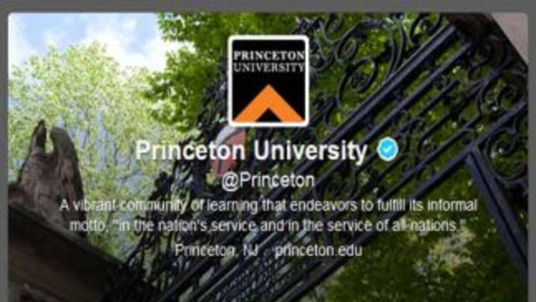 Twitter de la Universidad de Princeton.