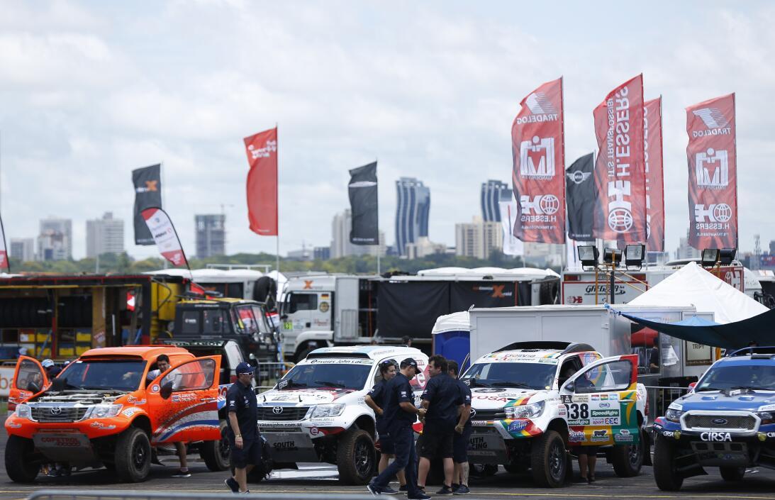 Así fue el comienzo del Rally Dakar en Paraguay AP_16366617454247.jpg