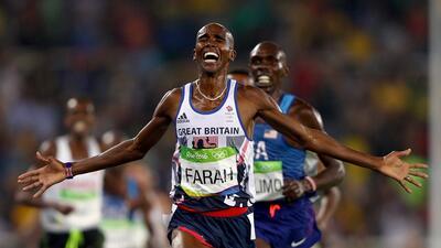 El estilo que Mo Farah ha desarrollado le permite correr más rápidamente...