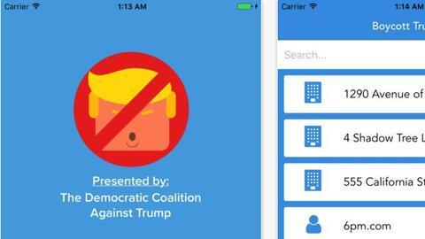 App Boycot Trump