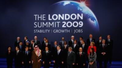 Cumbre G20 en Londres 2009.