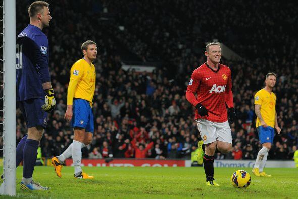Wayne Rooney firmó el 1-1 al minuto ocho.