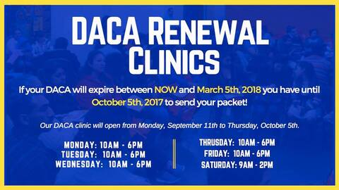 Clínicas para renovar DACA promovidas por organizaciones no lucra...