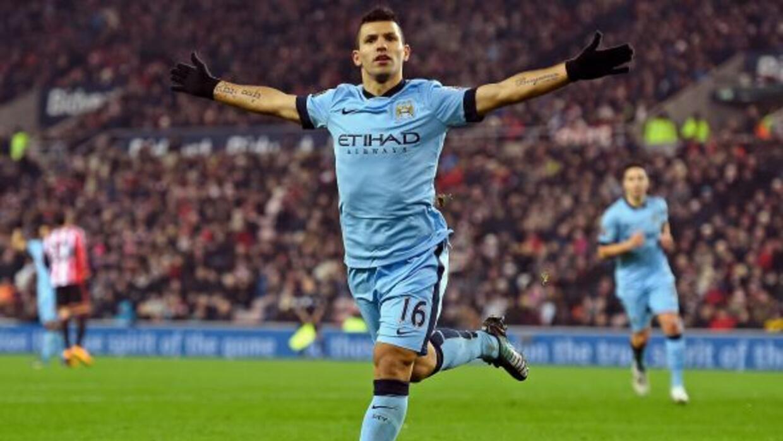 El 'Kun' no para de marcar goles, esta vez su víctima fue el Sunderland.