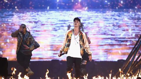 LONDON, ENGLAND - FEBRUARY 24: Justin Bieber performs on stage at the BR...