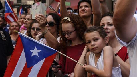 Una imagen del desfile puertorriqueño, que se realiza en junio todos los...