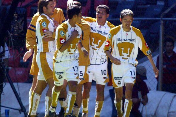 En el Apertura 2004, Pumas eliminó al Superlíder Veracruz en Cuartos de...