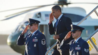 Barack Obama llega a Los Ángeles