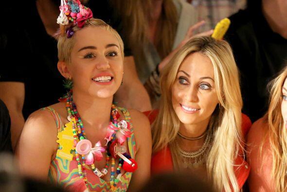 Pero sin duda la que más llamó la atención fue nada menos que Miley Cyrus.
