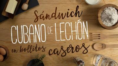 Sándwich cubano de lechón en bollitos caseros