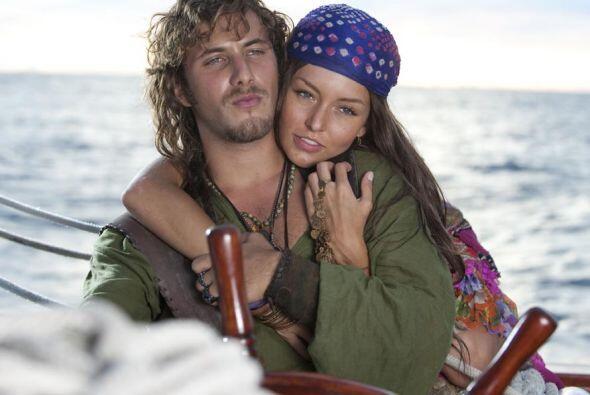 """Con quien vivió un gran amor en la telenovela """"Corazón Salvaje""""."""