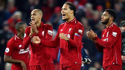Virgil van Dijk, satisfecho por el gran momento del Liverpool en la Premier y el pase a Octavos en Champions