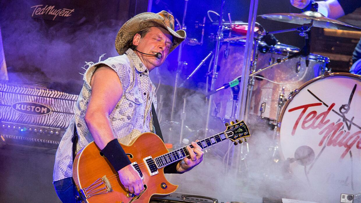 STERLING HEIGHTS, MI - AUGUST 26: Ted Nugent performs in support of his...