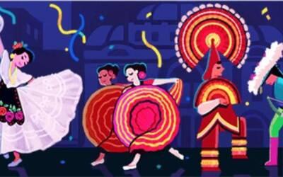 Este es el doodle que celebra a Amalia Hernández.