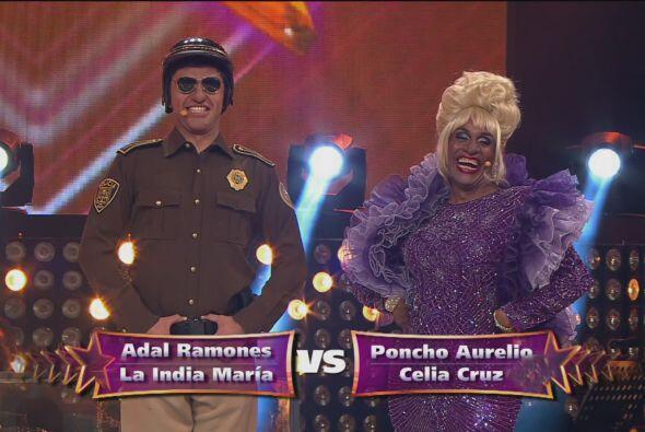 ¡Pero en su lugar apareció Poncho Aurelio junto a Celia Cruz!
