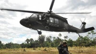 Helicópterotipo Blackhawk de la policía colombiana.