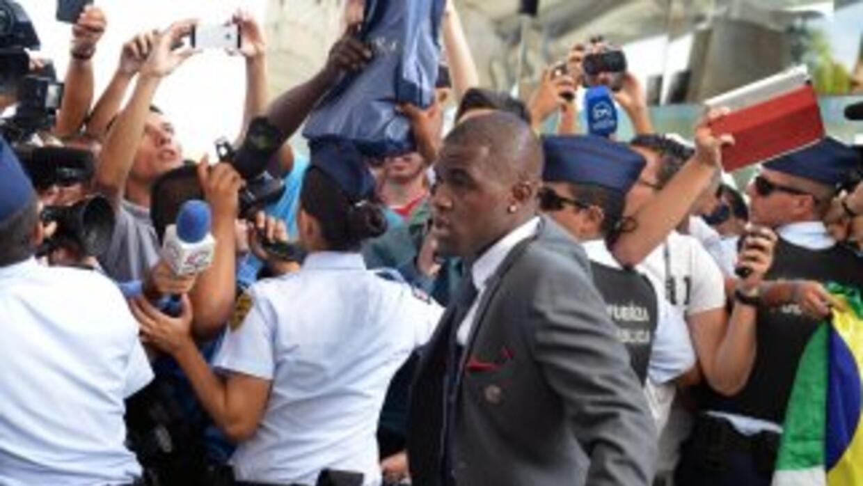 Joel Campbell lideró a la delegación de Costa Rica que llegó a Brasil.