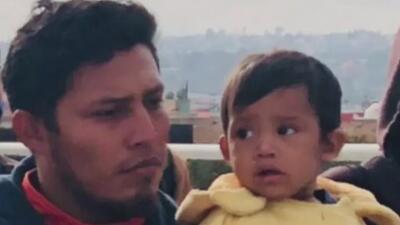 José Fuentes y su hijo Mateo.