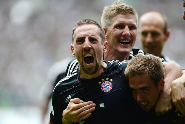 La terna es completada por el francés Franck Ribery, el estandarte de un...