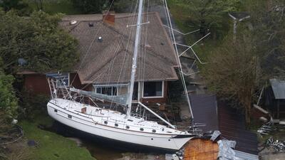 Fotografías aéreas: Inundaciones y devastación luego del paso de Florence por las Carolinas
