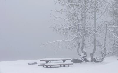 Una tormenta de nieve sorprendió al norte de California en junio.