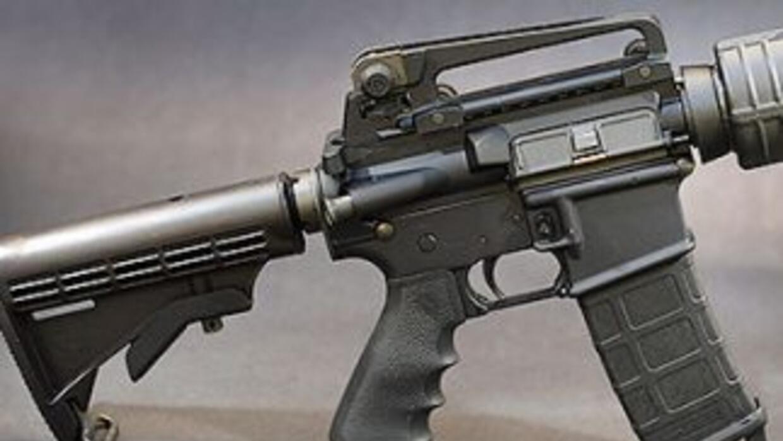 Rifle de asalto AR15.