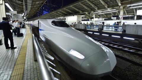 Un tren bala en una estación de Tokio en una imagen de archivo.