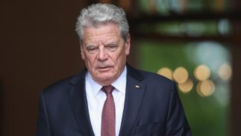 El presidente alemán, Joachim Gauck.