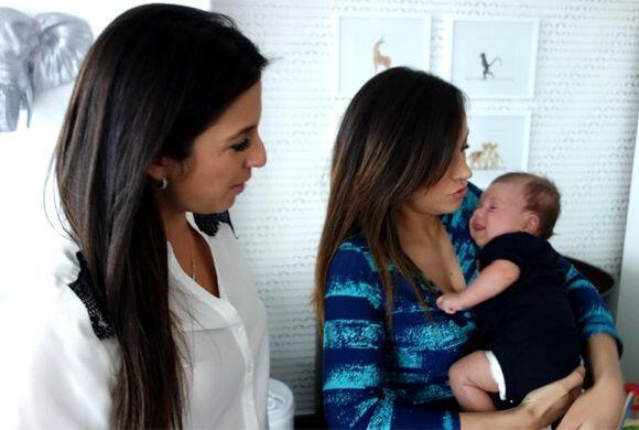La tía Maity compartiendo con Satcha de esta nueva faceta como mamá.