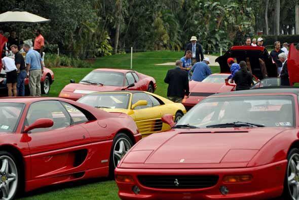 Cada exhibición de la Ferrari es una lección de historia sobre el fabric...