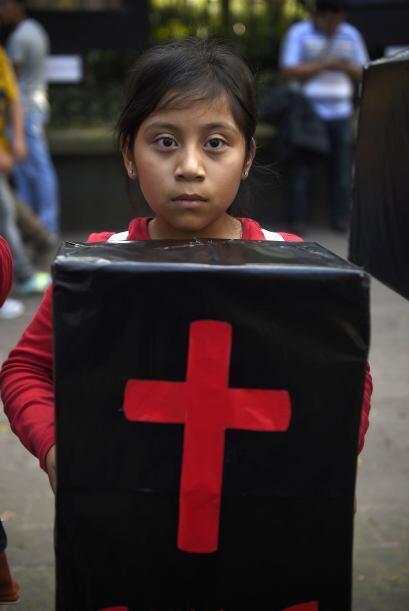 Muchos niños también asistieron a la marcha.