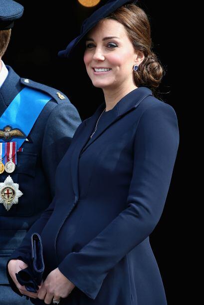 La Duquesa durante la que será una de sus últimas apariciones embarazada.