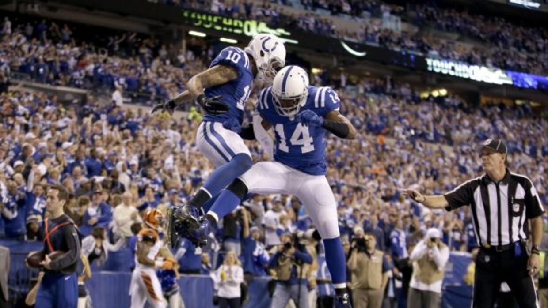 Donte Moncrief atrapó el único pase de touchdown de Andrew Luck en la vi...