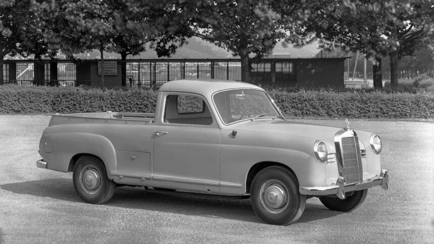 La Clase-X no es la primera camioneta pickup de Mercedes-Benz Mercedes-B...