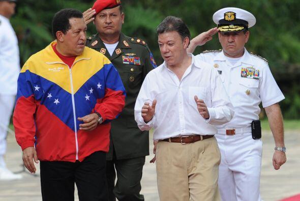 La cumbre de Chávez y Santos se realizó en el Departamento de Santa Martha.
