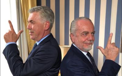 Carlo Ancelotti y Aurelio di Laurentis.