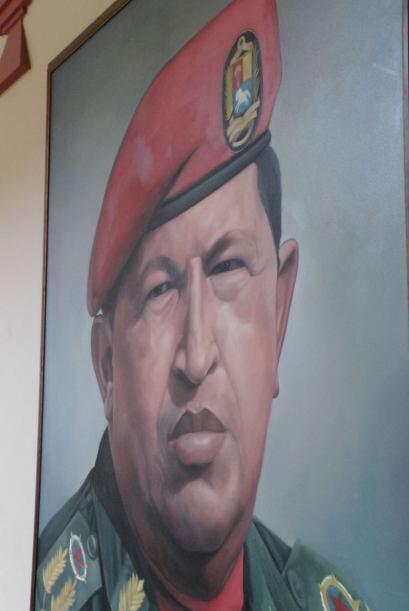 El retrato en aceite de Hugo Chávez Frías.