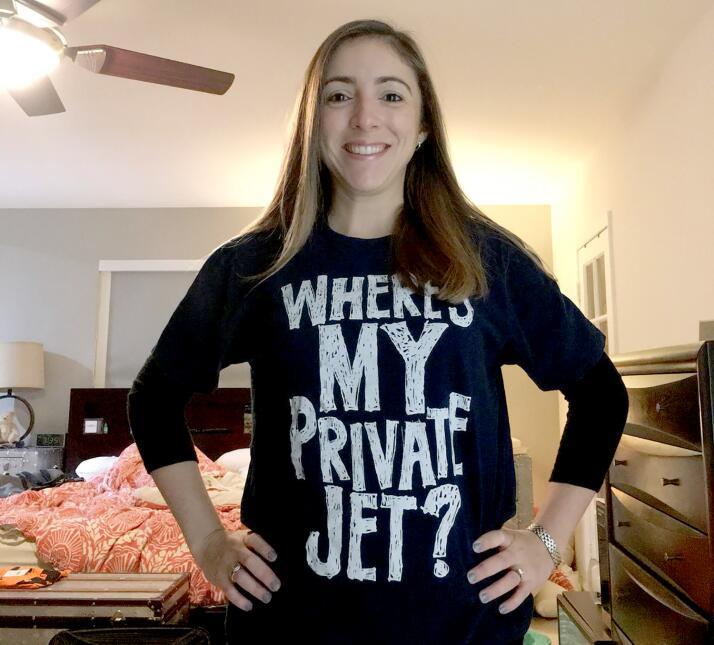 Jennifer Schell mandó a hacer una camiseta con la mayor petición que sie...