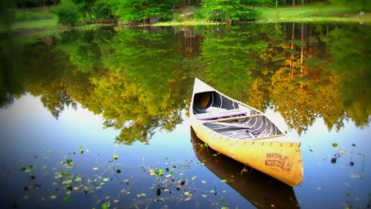 Canoe on water