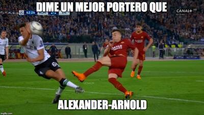 Las polémicas del Roma-Liverpool son protagonistas de los mejores memes