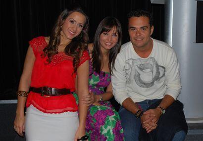 Aquí con Giselle y con uno de los productores del programa.