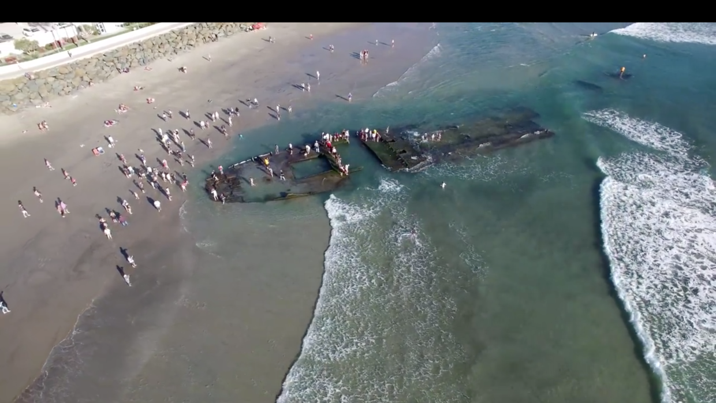 Los restos del barco están en las costas de Coronado, en California
