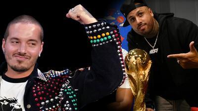 No lo invitaron, pero Nicky Jam logró colar a J Balvin en el cierre del mundial