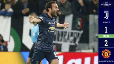 En un partido con un final inesperado, el United le quitó el invicto a la Juventus